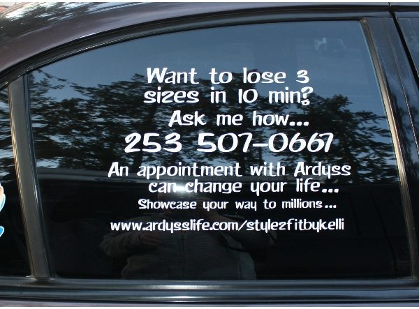 Professional Vehicle Window Lettering Amp Graphics Company